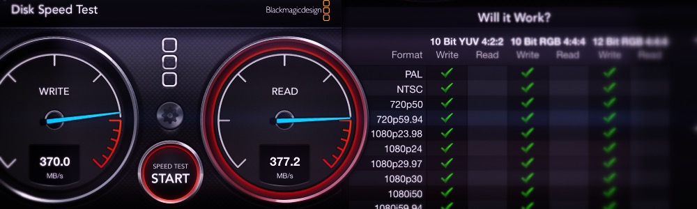 Utility - Black Magic Disk Speed Test | DocOptic.com